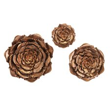 3 Piece Blayney Metal Flower Wall Décor Set