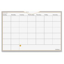 Dry Erase Planning Surface Wall Mounted Calendar Whiteboard, 1' H x 2' W