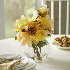 Faux Yellow Peony Bloom