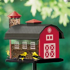 Red Barn Nyjer/Thistle Decorative Bird Feeder