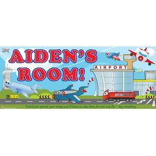 Planes Boy Name Wall Decal
