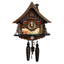 Battery-Operated Wood Cuckoos Wall Clock