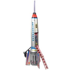 Collectible Decorative Tin Toy Rocket Ship