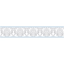 "Avery 15' x 6"" Damask Border Wallpaper"