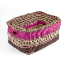 Zulu 6 Piece Nesting Seagrass Basket Set