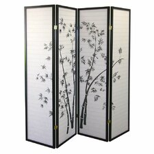 "Cher 70"" x 68"" Bamboo Shoji 4 Panel Room Divider"
