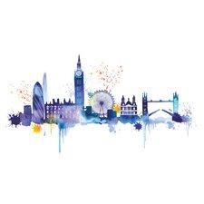 London Skyline by Summer Thornton Canvas Wall Art
