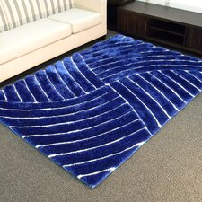 QUICK VIEW. Shaggy Blue Abstract Wave Area Rug