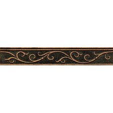 """Ambiance Gothic Leaf Liner 1-3/4"""" x 12"""" Resin Tile in Venetian Bronze"""