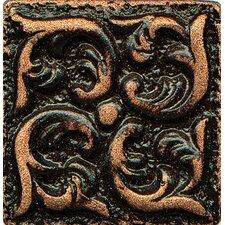 "Ambiance Insert Wave 1"" x 1"" Resin Tile in Venetian Bronze"