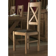 Chateau Solid Oak Upholstered Dining Chair (Set of 2)