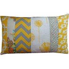 Zebra Pieces Daisy Cotton Lumbar Pillow