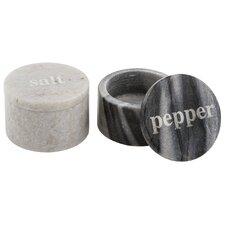 4 Piece Marble Salt and Pepper Pinch Set