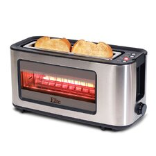 2 Slice Toaster with See Through Glass Window