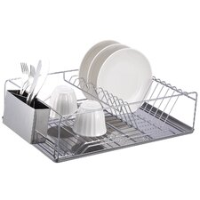 Dish Rack Chrome Stainless Steel Tray