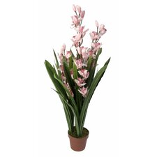 Artificial Dwarf Cymbidium with Pot