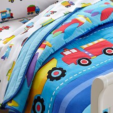 Olive Kids Trains, Planes and Trucks Toddler Comforter