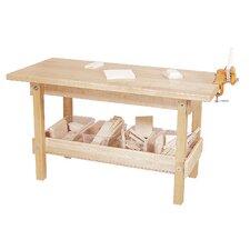 "44""W Wood Top Workbench"