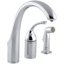 "Forté 3-Hole Remote Valve Kitchen Sink Faucet with 9"" Spout with Matching Finish Sidespray"