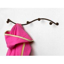 Single 5 Hook Coat Rack