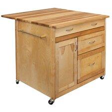 Butcher Block Kitchen Islands u0026 Carts Youu0027ll Love | Wayfair