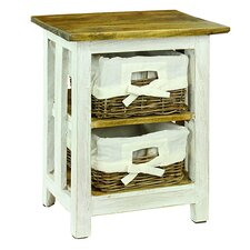 Nina 2 Basket Drawer Nightstand