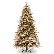 Snowy Everest 7.5' Medium Artificial Christmas Tree with 500 Clear Lights and Stand