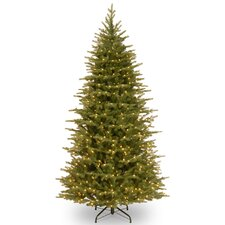 Nordic 7.5' Green Spruce Artificial Christmas Tree with 750 Clear Lights and Stand