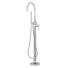 Concord Single Handle Floor Mount Tub Faucet with Hand Shower