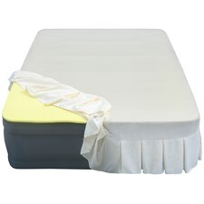 """Lustrous 20"""" Air Mattress with 3/4"""" Memory Foam Topper and Skirted Sheet Cover"""