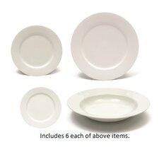 White Basics 24 Piece Dinnerware Set, Service for 6