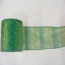 Glitter Swirl Mesh Ribbon