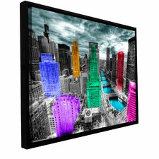 'Chicago' Framed Photographic Print on Wrapped Canvas
