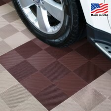 """12"""" x 12""""  Deck and Patio Flooring Tile in Brown"""