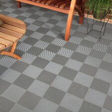 """12"""" x 12""""  Deck and Patio Flooring Tile in Gray"""
