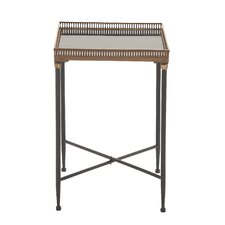 Unique Metal Marble Tray Table