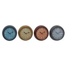 "Grand Metal 15"" Wall Clock (Set of 4)"