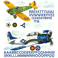 Airplanes Peel and Place Wall Decal Set