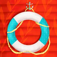 Ring Floatie Red Canvas Art