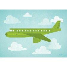 Airborne Airliner Canvas Art