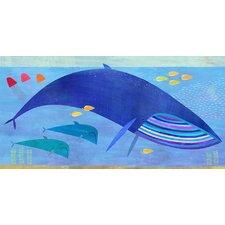 Blue Whale Bunch Canvas Art