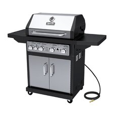 4-Burner Natural Gas Grill with Cabinet