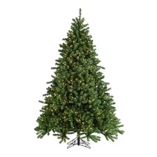 7.5' Green Grand Canyon Spruce Christmas Tree with 1200 Clear Lights with Stand