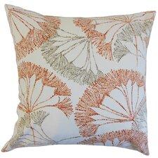 Grove Floral Cotton Throw Pillow