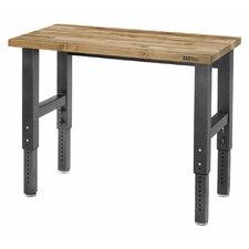 Premier Series Adjustable Height Wood Top Workbench