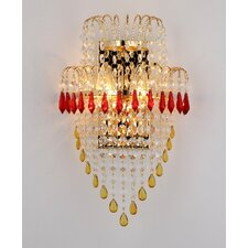 John 2-Light Crystal Wall Sconce
