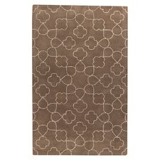 Essence Hand Tufted Wool White/Brown Area Rug