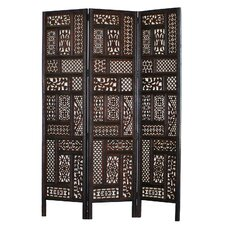 "Waters 70"" x 54"" Hemmingway 3 Panel Room Divider"