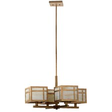 Craftsman 4-Light Shaded Chandelier