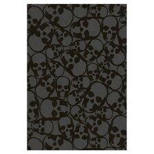 Barbara Hulanicki Flock Skulls Abstract Flocked Wallpaper